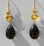 Beautiful Gemstone Gold Earrings