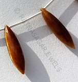Tiger eye gemstone dew drop shape