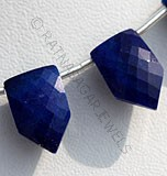 Lapis Pentagon Shape Beads