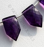 Amethyst Gemstone pentagon beads