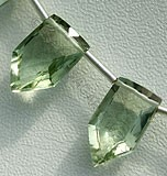 Green Amethyst Gemstone Pentagon Beads