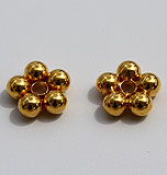 18K Gold Single Flower Spacer Beads