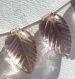 Ametrine Gemstone Carved Leaf