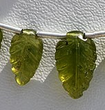 Vesuvianite Carved Leaf