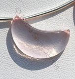 Rose Quartz Gemstone  Moon Shape