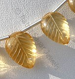 Citrine Gemstone  Carved leaf