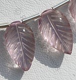Pink Amethyst Carved Leaf