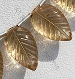Champagne Citrine Carved Leaf