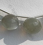 Grey Moonstone-Onion Shape